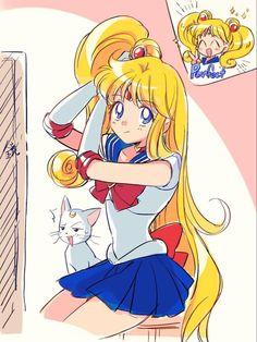 Sailor Moon Funny, Watch Sailor Moon, Arte Sailor Moon, Sailor Moon Fan Art, Sailor Moon Character, Sailor Moon Usagi, Sailor Moon Crystal, Sailor Jupiter, Sailor Venus