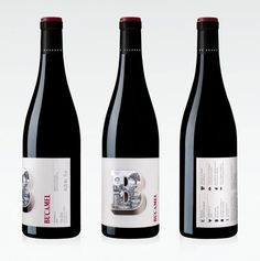 love the type treatment on this wine label