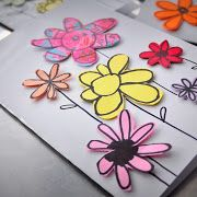 Cute easy way to make greeting cards out of paper scraps. They're full of hand drawn flowers. Kids Science Fair Projects, School Art Projects, Science For Kids, Activities For Kids, Activity Ideas, Paper Crafts For Kids, Arts And Crafts, Diy Crafts, Making Greeting Cards
