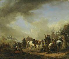 Philips Wouwerman - De hoefsmid (1654)