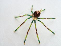 Fall Colors Christmas Spider Ornament Decoration by Thespiderlady, $7.00