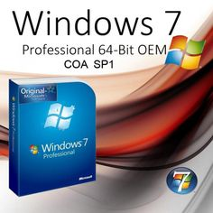 WINDOWS 7 PRO SP1 64BIT OEM COA DVD  FVAT 23%