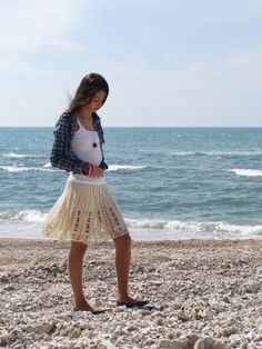 Crocheted Lace Skirt Pattern Hand Knit PDF Tutorial by etty2504, $7.90