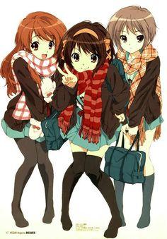 Mikuru, Haruhi, and Yuki   The Melancholy of Haruhi Suzumiya (Suzumiya Haruhi no…
