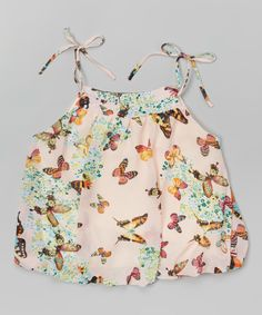 Look at this Pink Butterfly Tank - Toddler & Girls on #zulily today!