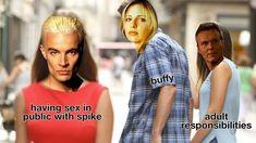 "Just 100 Hilarious Memes About ""Buffy The Vampire Slayer"" Star Trek Enterprise, Star Trek Voyager, Buffy Musical Episode, Feminist Icons, The Wb, Remember The Time, Twitter Trending, Firefly Serenity, Joss Whedon"