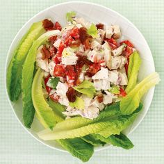 Chicken Club Salad In the Club: Prep this deconstructed sandwich at night or in the morning, and store each part separately. At lunchtime-or dinnertime-simply arrange and serve.