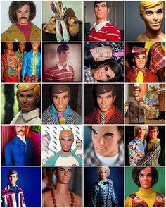 Vintage Ken over the years Ken Doll, Barbie Dolls, Mod Hair, German Toys, Barbie Collector, Barbie And Ken, A Comics, Vintage Barbie, Pretty Hairstyles