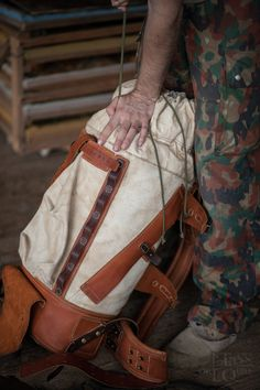 Large leather and canvas backpack by NotlessOrequal