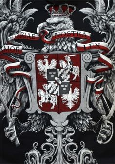"T-shirt patriotyczny ""Husaria - Amor Patriae Nostra Lex"" HD Polish Eagle Tattoo, Polish Tattoos, Visit Poland, Batman Tattoo, Eagle Design, Military Art, Horse Art, Coat Of Arms, Picture Tattoos"