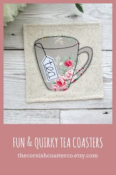Tea party decor ideas ~ Hosting an old English style tea party? then these are the perfect coasters for you! Tea Coaster, Fabric Coasters, Handmade Items, Handmade Gifts, Coordinating Fabrics, Mug Rugs, Quilting Designs, House Warming, Machine Embroidery