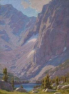 Vertical Rise Above Third Lake by Jean LeGassick Oil ~ 24 x 18