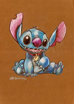 Stitch with colored pencils.