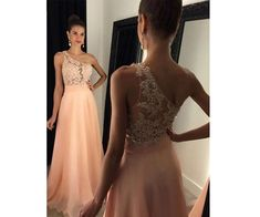 Long Prom Dress,One Shoulder Prom Dress,Sleeveless Prom Dress,Lace Prom Dress,Chiffon Prom Dress With Appliques,PD0273 http://www.luulla.com/store/sofitdress
