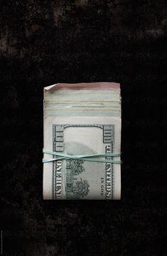 Stack of 100 dollar bills by Kristin Duvall - One hundred, Money - Stocksy United 100 Dollar Bill, Dollar Bills, Dollar Money, Dollar Bill Origami, Money On My Mind, Money Bill, Album Cover Design, Graphic Design Illustration, Album Covers