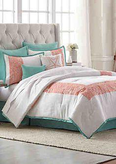 Home.™ Seaside Retreat Comforter Bed-In-A-Bag Set - Coral - King Modern Comforter Sets, King Comforter Sets, Bedding Sets, Bedding Decor, Modern Bedding, Croscill Bedding, Rustic Bedroom Design, Purple Bedding, Box Bed