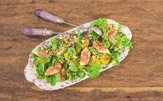 Salada de agriao com mandioquinha e figo (Foto: Divulgao/GNT)