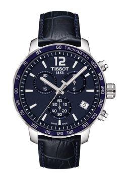 0db01f61ed7c Tissot Quickster Quartz Chronograph Blue Dial Men Спортивные Часы