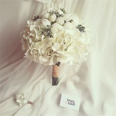 Erengül Ortanca Gelin Çiçeği (Buketi) | Beyaz Buket