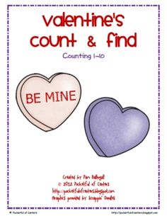 Your kiddos will have fun learning number recognition and counting 1-10 with this Valentine's Day counting activity!  The children will identify th...