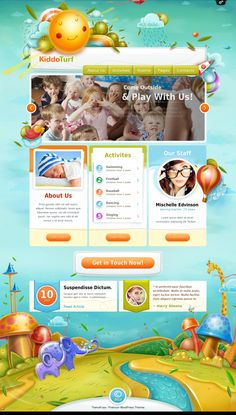 #KiddoTurf - #Kids #WordPress #Theme : This kids WordPress theme designed and developed with a #kindergarten or day care center #website in mind. With a gorgeous #design, your website will definitely make a lasting impression on your visitors.