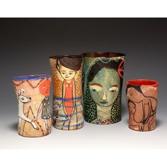 Cups, painting, ceramics