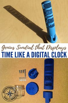 Genius Sundial that Displays Time Like a Digital Clock — If you're already living off the grid, or you're prepping for the day you have to live off the grid, you're going to have to improvise in a lot of things.