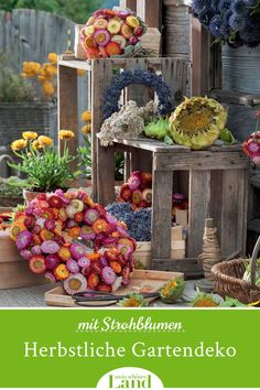 Bunt, Wreaths, Table Decorations, Fall, Inspiration, Furniture, Home Decor, Old Wooden Boxes, Four Seasons