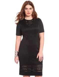 466a017eb6a Laser Cut Scuba Dress Plus Size Clothing Online