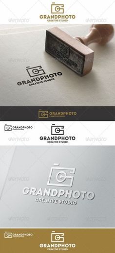 Buy Grand Photo Logo G Letter by djjeep on GraphicRiver. Simple Photo Logo – Photography Studio Logo Template – That can be used by professional photographers, video studio, . Photography Studio Names, Letter Photography, Photography Business, Photography Studios, Food Photography, Logo Foto, Photo Logo, Brand Identity Design, Branding Design