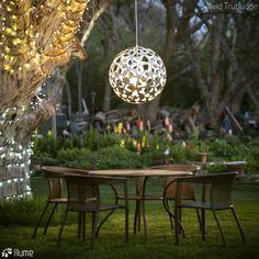 Luminária Pendente Coral @maislume Coral Pendant, Chandelier, Lamp, Outdoor Decor, Outdoor Tables, David Trubridge Coral, Craftsmanship, Ceiling Lights, Lights