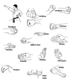 Techniques Karaté - Les percussions avec les poings.