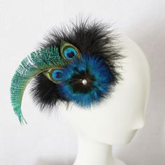 Free Shipping 2013 New Peacock Feather Fascinator/ Hair Accessories/Headpiece /Women Hair Accessories $13.49