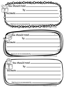 FREEBIE! Encourage your students to share their favorite book picks with others. With these slips you can create an easy bulletin board or display and share a love of good books!Enjoy!Please remember to leave feedback and earn your TpT credit!