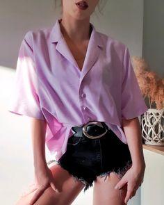 Ruffle Blouse, Buttons, Retro, Vintage, Tops, Women, Fashion, Moda, Women's
