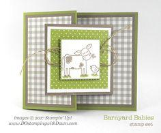 Brides & Babies Week: Barnyard Babies Fun Fold Card