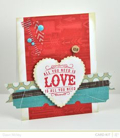 All You Need Is Love - Studio Calico Spencers Card Kit