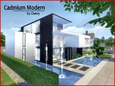 Houses And Lots Onyx Modern House By Chemy From The Sims Resource