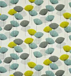 Sanderson Dandelion Clocks Fabric - DOPNDA204 Chaffinch