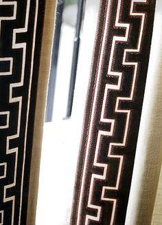greek key goodness... curtain trim