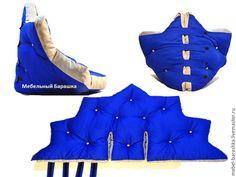 Handmade Furniture, Diy Furniture, Bean Bag Pattern, Sewing Crafts, Sewing Projects, Pillow Mat, Animal Sewing Patterns, Diy Cushion, Cardboard Art