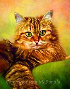 Cat Painting by ScottieInspired ~ Custom Pet Portrait ~ Artist: Ian McDonald