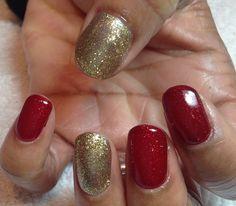 red and gold glitter nails fashion nail girls girl polish designs art fake varnish black colors design ideas pretty latest Red And Gold Nails, Gold Glitter Nails, Red Glitter, Pink Nails, Red Gold, Gold Nail Designs, Gel Designs, Beautiful Nail Designs, Christmas Gel Nails