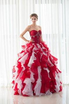 Ruffled Mixed Color Organza Ball Gown Quinceanera Dresses with Jacket