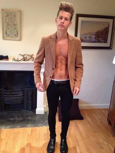 The Vamps' James McVey shirtless