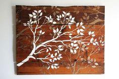Stenciling wood wall art « @ Heart-2-HomeHeart-2-Home