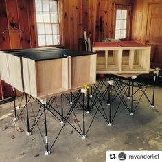 We've seen a lot of custom #wood #furniture and #cabinet #makers finding #convenience in the large #temporary #workspace provided by a #CentipedeSupport. It is an ideal #portable solution for final assembly and finishing of #interiordesign #projects that tucks away when not in use. This #painted #dresser application repost via @mvanderlist is a great example:  The paint job was made much easier with some solid support. #centipedetool #centipedesawhorse #mattsbasementworkshop…