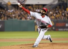 CrowdCam Hot Shot: Cincinnati Reds starting pitcher Johnny Cueto throws a pitch against the Pittsburgh Pirates against in the National League Wild Card game at PNC Park. Photo by Charles LeClaire