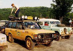 Original Range Rover of US Team, Trophy 87 Madagascar,Vehicle.  A Range Rover Turbo Diesel 2.4