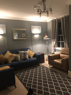 Grey And Mustard Living Room House In 2019 Living